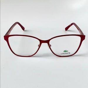 Lacoste Women Cat Eye Eyeglasses L2196-540 Red